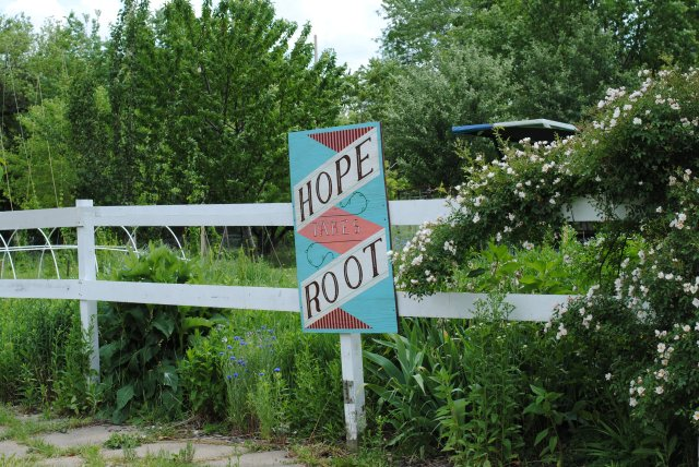 "Community Garden ""Hope takes Root"" in Corktown @Detroit"