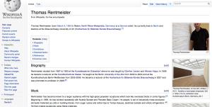 Thomas Rentmeister @ Wikipedia